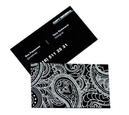 визитки тач кавер черные визитки
