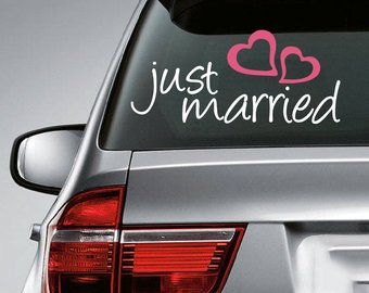 свадебные наклейки на авто